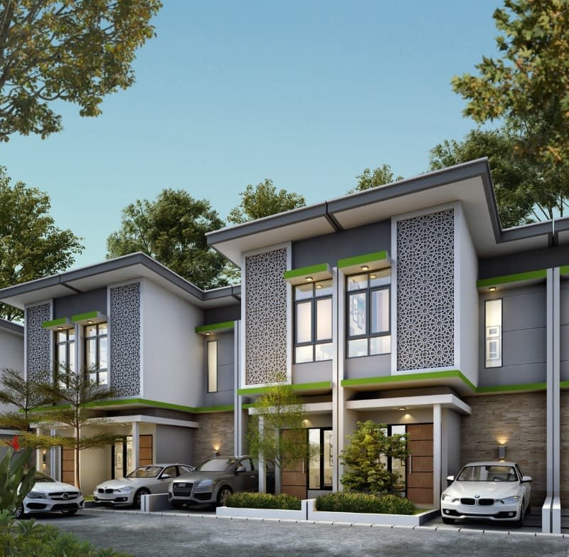 Desain Rumah Syariah Type 54 Townhouse