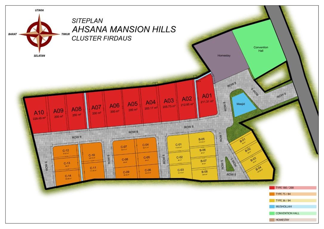 Siteplan Firdaus Ahsana Mansion Hills
